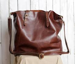 leather travel bag brown leather tote bag for women