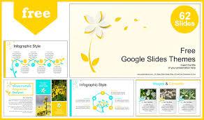 Beautiful Yellow Flower Google Slides Themes