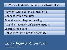 101 Ways To Find A Job Way 7 Professional Associations