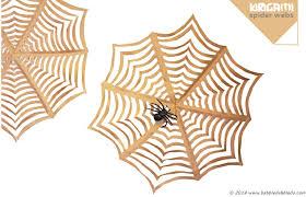 craft giant kirigami spider webs