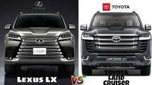 2022 Lexus LX vs 2022 Toyota Land Cruiser - Side by Side Comparison -  YouTube