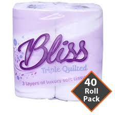 Bliss Toilet Roll 3Ply White – 40 Rolls – SCCUK Solutions &  Adamdwight.com