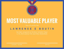 mvp award certificates basketball mvp award certificate templates by canva