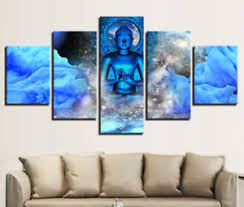 image is loading large framed picture blue abstract buddha wall art  on large canvas wall art ebay with large framed picture blue abstract buddha wall art canvas prints