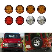 Land Rover Defender Red Warning Light 8pcs For Land Rover Defender 4 Yellow 2 Clear 2 Red Led Rear
