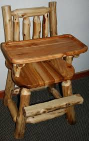 wooden high chair converts to table and chair log baby furniture and log furniture barn wood