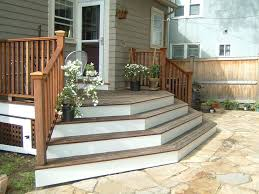 patio steps pea size x: deck to patio transition pictures multi directional mahogony sitting deck