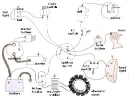 harley alternator and kick only wiring diagram motorcycle parts only harley shovelhead wiring diagram