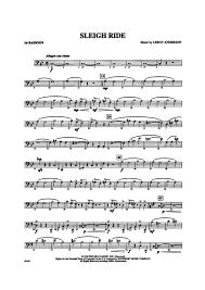bassoon sheet music sleigh ride bassoon leroy anderson digital sheet music gustaf