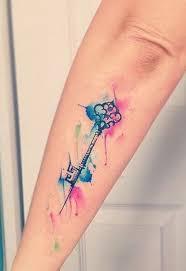 Watercolor Key Tattoo Mybodiartcom Tatto Ideal Tetování