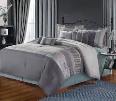 image of solid grey comforter