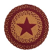 ihf home decor braided rug 39in round chair cover pads star wine