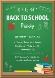 Back To School Invitation Template Printable Back To School Party Invitation Template