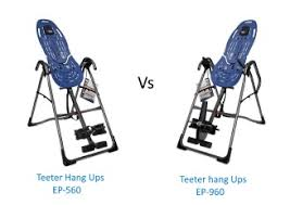Teeter Comparison Chart Teeter Ep 560 Vs Ep 960 Best Inversion Tables