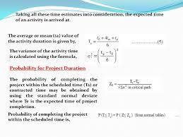 Pert Chart Formula Network Problem Cpm Pert