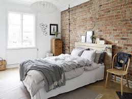 brick wall bedroom. The Combination Of Exposed Brick And Soft White Walls Feels So Homely. Wall Bedroom
