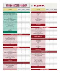 Family Budget Template Free Family Budget Template 11 Free Sample Example Format