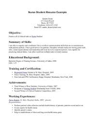 Nursing College Student Resume Examples Listmachinepro Com