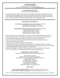 Special education teacher resume to inspire you how to create a good resume  10
