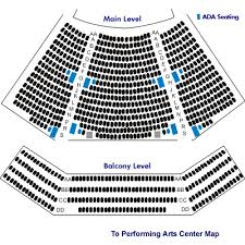 Chesapeake College Todd Performing Arts Center Seating Chart