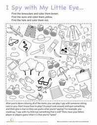 Small Picture I Spy Travel Game Coloring worksheets and Road trips