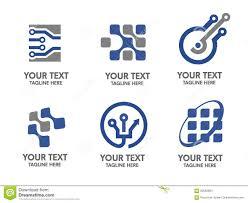 Digital Electronics Logo Set Stock Vector Illustration Of