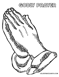 Printable Praying Hands - Coloring Home