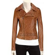 women s glazed distressed biker leather jacket women brown leather jacket women biker leather jacket