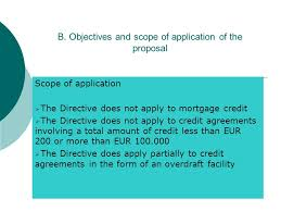 Proposal For A Directive On Credit Agreements For Consumers Table Of ...