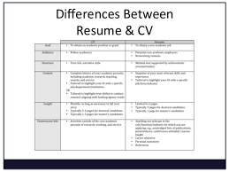 Difference Between Cv Resume Www Omoalata Com