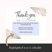 Business Thank You Card Template Printable Business Thank You Cards Template Reese Holly Casto Reese 6