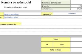 Modelo De Recibo Planilla De Excel Para Confeccion De Recibo Planillaexcel Com