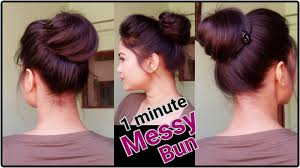 Simple Hairstyles For College 1 Min Messy Bun With Bunstick Everyday Hairstyles For School