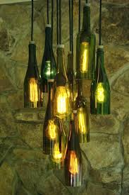 recycled wine bottle chandelier wine bottle chandelier bottles with lights how to make hanging lamp from