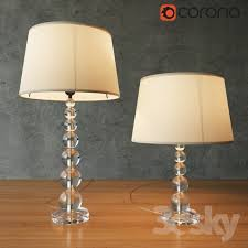 pottery barn stacked crystal table bedside lamp
