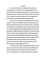 argumentative essay against gun control laws examples of argument essays on gun control iwantregistered