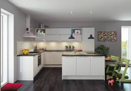 White Kitchen Modern All White Kitchen Electric Cooktop Side By Side