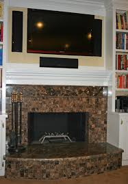 ... Attractive Living Room Decoration With Tile Fireplace Surrounds :  Stunning Ideas For Living Room Design With ...