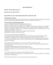 Resume Objective For Housekeeping Job This Is Resume Examples