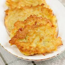 potato latkes with honey apple sauce