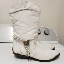 boots white leather size 7 5 m 5c7344ab12cd4a7a62c7f5d6