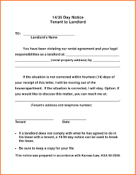 30 day notice to vacate letter to tenant template notice to end tenancy template unique