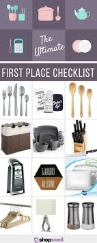 Moving into your first place? Use this checklist as an overall guide to  completing your