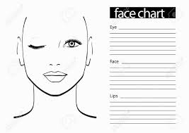 face chart makeup artist blank template vector ilration stock ilration 61056415