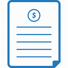Invoice Price Outline Webi Con 4 Cyan By Web1 Technology