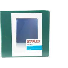 3in 3 Ring Binder Staples Standard 3 Inch D Ring Binder Green 26354 110080