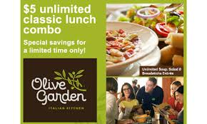 deals at olive garden. Olive Garden Lunch Combo Deals At