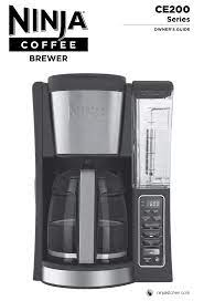 Discard any water/coffee grounds from ninja coffee bar pour about a travel size mug of vinegar into the water reservoir, and fill the rest with water. Ninja Ce201 User Manual Manualzz
