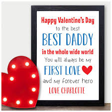 happy valentines day personalised gifts for daddy unique custom valentines presents from new baby boy or son or daughter for daddy dad