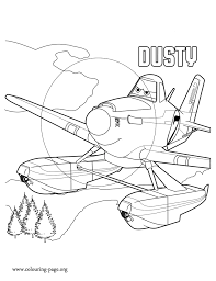 Small Picture Planes 2 Dusty a racing plane coloring page